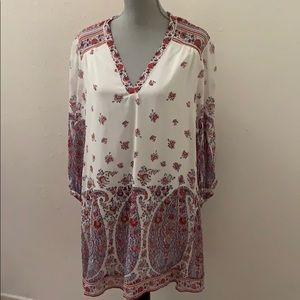 Joie New NWT Dress Medium White floral silk pretty